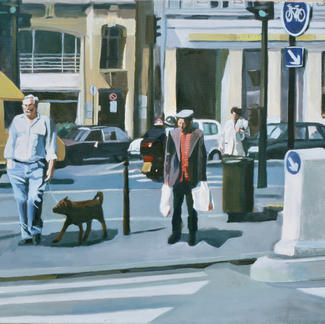 Front Of The Post Office - Marc GOLDSTAIN 1999 - Oil On Canvas - Paris