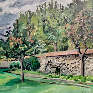 Edges Of The Property - Marc GOLDSTAIN 1992 1993 - Oil On Wood - St Maurtrees