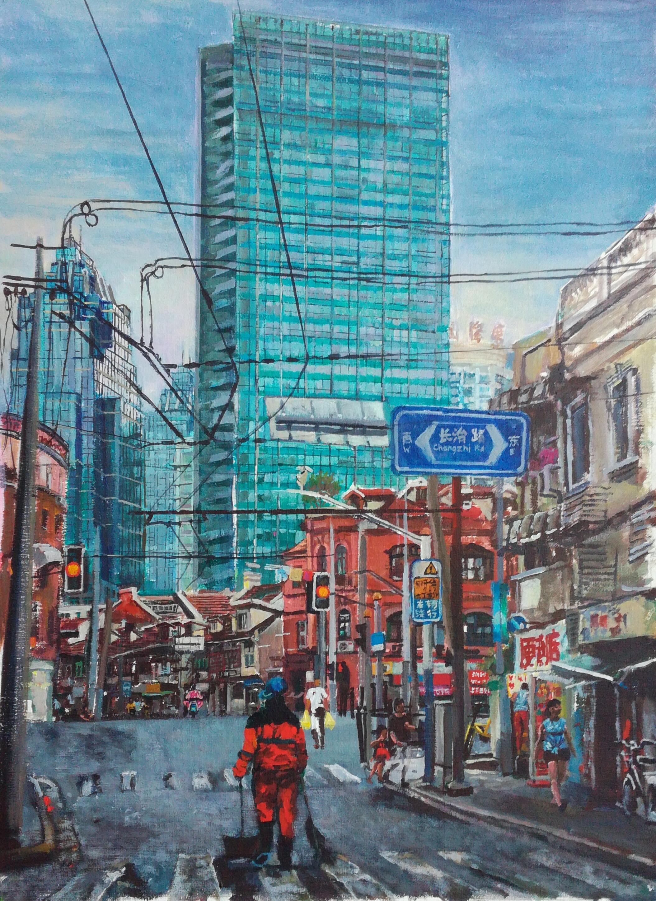 Hongkou' s sweeper, Shanghai, Oi
