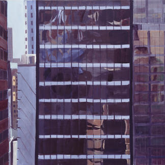View From The St Regis 2 - 97x130cm - Marc GOLDSTAIN 2002 - Acrylic On Canvas - New York - Manhattan - Urban Landscape -  - Realistic Painting - Contemporary Art