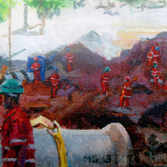 twelve knights- belo horizonte- acryl on canvas-workers-worksite-brasil-contemporary paint