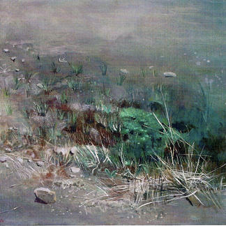 Miniature Landscape - 92x60cm - Marc GOLDSTAIN 2004 - Oil On Canvas - Country - Agriculture - Contemporary Painting