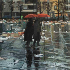 Two Shadows - Oil on canvas - 73x60cm - Marc GOLDSTAIN 2010 2011