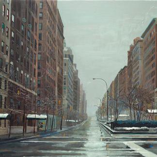 Billie Hollyday - 89x116cm - Marc GOLDSTAIN 2006 - Oil On Canvas - Snow - Urban Landscape - New York - Contemporary Painting