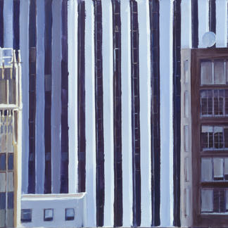View From The St Regis - 65x81cm - Marc GOLDSTAIN 2002 - Acrylic On Canvas - New York - Manhattan - Urban Landscape -  - Realistic Painting - Contemporary Art