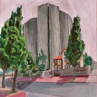 St Maur 2 - Marc GOLDSTAIN 1992 1993 - Oil On Wood - Urban Landscape