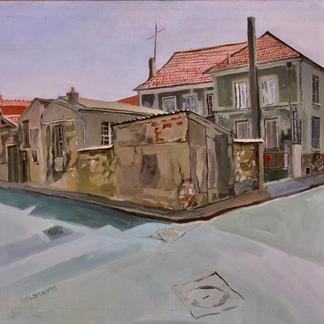 St Maur 3 - Marc GOLDSTAIN 1992 1993 - Oil On Isorel - Urban Landscape