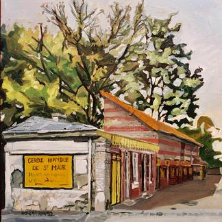 St Maur 9 - Marc GOLDSTAIN 1992 1993 - Oil On Canvas - Urban Landscape