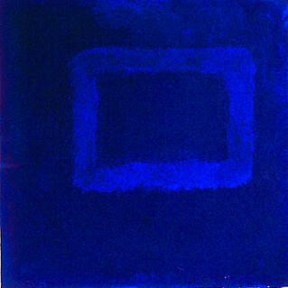 From Serie Square Blue - Marc GOLDSTAIN 1994 1997 - Mixt Technic On Panel