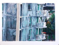 Balcon in progress, rue leblanc
