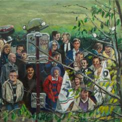 Manifestation - 24x33cm - Marc GOLDSTAIN 2013 - Oil On Canvas - Manifestation - People - Contemporary Art