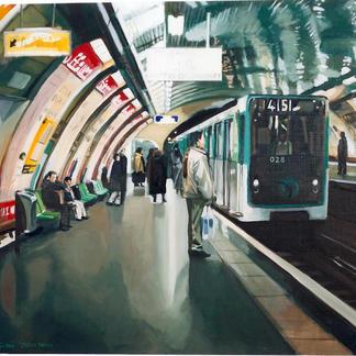 Station Odeon - Marc GOLDSTAIN 2000 - Oil On Canvas - Paris - 89X116Cm