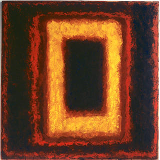 From Serie Square Red Yellow - Marc GOLDSTAIN 1994 1997 - Mixt Technique On Panel