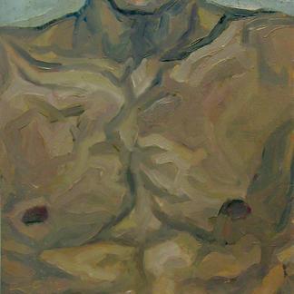 Torso Stephane - Marc GOLDSTAIN 1992 1993 - Oil On Wood - Portrait