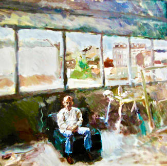 Henry At The Studio - Marc GOLDSTAIN 1995 1996 - Oil On Paper Mounted On Canvas - Studio Pantin - 50X70Cm