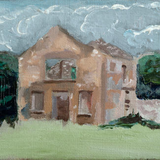 Ruined House - Marc GOLDSTAIN 2007 2008 - Oil On Canvas - Seascape - Contemporary Art - Figurative Painting