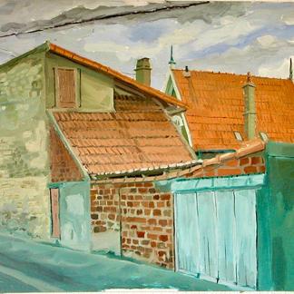 St Maur 6 - Marc GOLDSTAIN 1992 1993 - Oil On Canvas - Urban Landscape