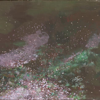 Cosmic Ground - 46x55cm - Marc GOLDSTAIN 2005 - Oil On Canvas - Leafcomtemporary Painting