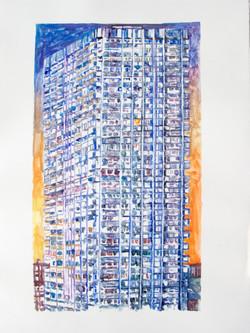 La monade urbaine, 44 x 28 cm 2014