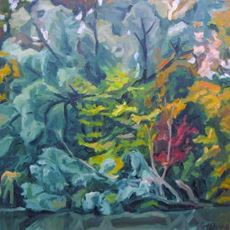Edges Of The Marne 4 - Marc GOLDSTAIN 1992 1993 - Oil On Canvas - Autumn Trees