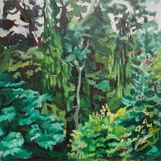 Garden Thiers 1 - Marc GOLDSTAIN 1992 1993 - Oil On Panel - Trees