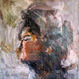 Self Portrait Profil Henry Et Moi - Marc GOLDSTAIN 1995 1996 - Oil On Paper Mounted On Canvas - Studio Pantin - 1996 - 146X114Cm