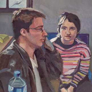 Dom And Nath - Marc GOLDSTAIN 1999 - Oil On Canvas - 65X50Cm
