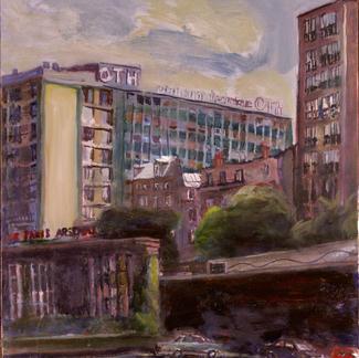 Capitainerie Bastille - Marc GOLDSTAIN 1997 - Oil On Canvas - 65X50Cm