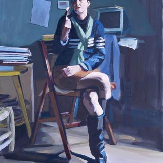 Francoise - Marc GOLDSTAIN 2000 - Oil On Canvas - 130X89Cm