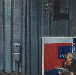 Alma Marceau Passengers - 30x90cm - Marc GOLDSTAIN 2014 - Oil On Canvas - Rer Station - Paris Underground - Paris Subway - Contemporary Painting