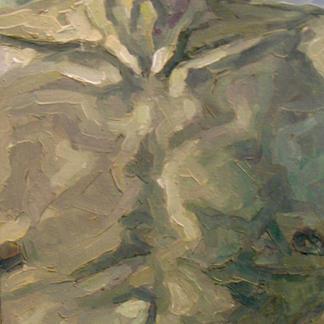 Torso Franck - Marc GOLDSTAIN 1992 1993 - Oil On Wood - Portrait