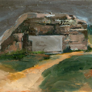 Bunker 2 - Marc GOLDSTAIN 2007 2008 - Oil On Canvas - Seascape - Contemporary Art - Figurative Painting