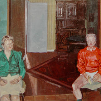 Ma And Pas In The Living - Marc GOLDSTAIN 1992 1993 - Oil On Panel - Portraits