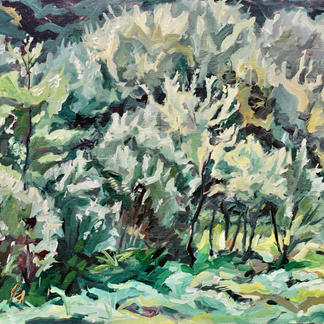 Garden Thiers 2 - Marc GOLDSTAIN 1992 1993 - Oil On Panel - Trees