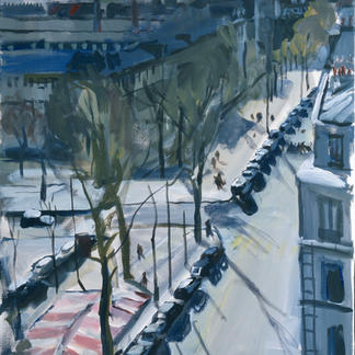Boulevard De Rochechouard - Marc GOLDSTAIN 2000 - Acrylic On Canvas - Paris - Anvers - About116X89Cm