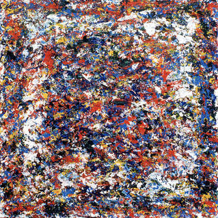 From Serie White Psyche Square1 - Marc GOLDSTAIN 1994 1997 - Acrylique On Canvas