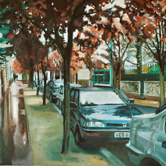 Library Street - Marc GOLDSTAIN 2000 - Oil On Canvas - St Maur