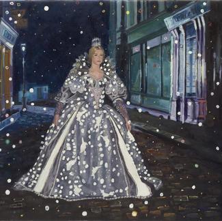 Queen Catherine - Marc GOLDSTAIN 2006 - Oil On Canvas - Jacques Demy - Caherine Deneuve - Peau D Ane - Parapluie De Cherbourg - Movie - Powerfull Woman - Contemporary Painting