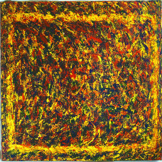 From Serie Yellow Psyche Square1 - Marc GOLDSTAIN 1994 1997 - Acrylic On Canvas