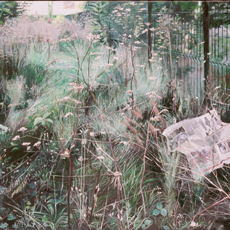 Every Painters Wishes In One Painting - 97x146cm - Marc GOLDSTAIN 2004 - Oil On Canvas - Wild Grass - Paris Javel. Realistic Painting - Contemporary Painting
