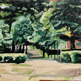 Jemmapes Island 1 Marne - Marc GOLDSTAIN 1992 1993 - Oil On Panel - Trees