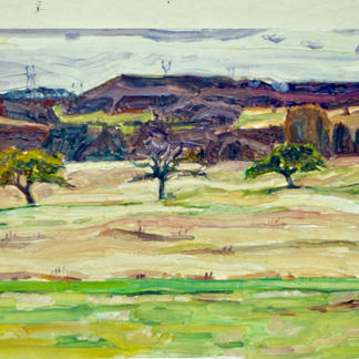 Landscape With Three Trees - Marc GOLDSTAIN 1989 1991 - Oil On - Panel