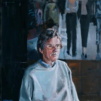 Klaus - Marc GOLDSTAIN 2000 - Oil On Canvas - Portrait With Glasses - Contemporary Art - Realisitc Painting - Pedestrians