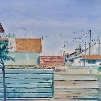 St Maur 5 - Marc GOLDSTAIN 1992 1993 - Oil On Canvas - Urban Landscape