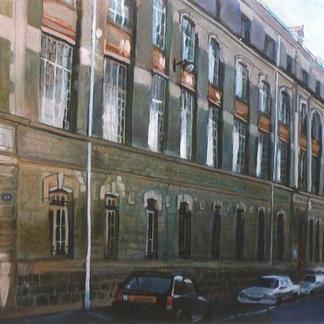 Jeanne D Arc Street - Marc GOLDSTAIN 1997 - Oil On Canvas - Paris Urban Landscape - 114X162Cm