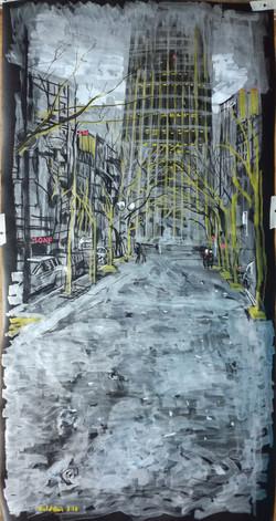 Cloudy Montparnasse tower 100 x 50
