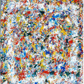 From Serie White Psyche Square2 - Marc GOLDSTAIN 1994 1997 - Acrylique On Canvas