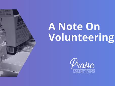 A Note on Volunteering