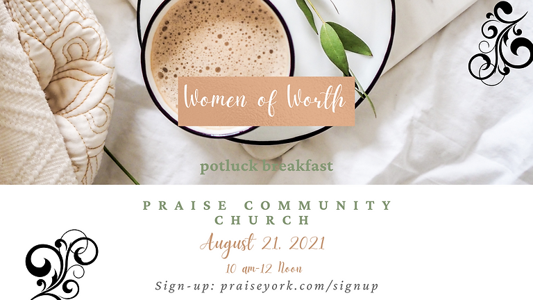 Women of Worth Breakfast - AUGUST