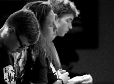 The Greenhouse _ Students in Worship B&W